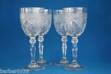 CRISTAL D' ARQUES CLEAR ANTIQUE 8 OZ. GOBLETS WITH KNOB SET OF 4