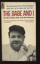 1959 The Babe and I Paperback Book By Mrs. Babe Ruth EX