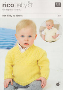 Rico Baby So Soft Sweater and Tank Top Double Knitting Pattern 150