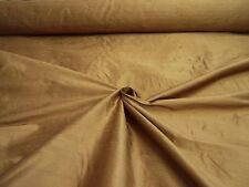 """Pur tissu de soie Handloom Doupion Large 54"""" """"CANNELLE"""" par la moitié MT prix de rouleau"""