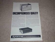 Dynaco Stereo 120 Amplificatore Annuncio, 1966, Articolo,PAS-3x,fm3