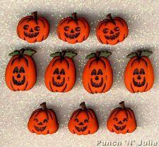 JACK O' LANTERNS - Pumpkin Trick or Treat Halloween Dress It Up Craft Buttons