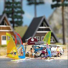 BUSCH HO scale ~ WINDSURFER SET ~ plastic model kitset #1156