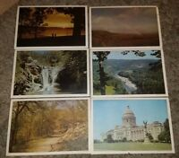 Vintage Bright of America Box Set of 6 Arkansas Placemats 6 Color Scenes