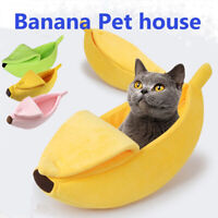Pet Cat Dog Sofas Bed Banana Shape Dog House Pet Kennel Nest Warm Dog Cat NEW