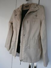 DEBENHAMS MAINE JACKET HOODED MAC BEIGE MESH LINED CAGOULE SIZE 10 VGC