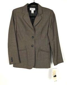 NWT PENDLETON VTG $296 Womens 100% Virgin Wool Suit Skirt Blazer Brown Size 4P