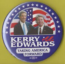 "2004 John Kerry & John Edwards 3"" / Presidential Campaign Button (Pin 04)"