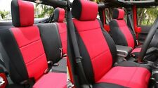 Jeep Wrangler JK Unlimited neoprene Front and Rear seat cover 2011-14 red 4dyes