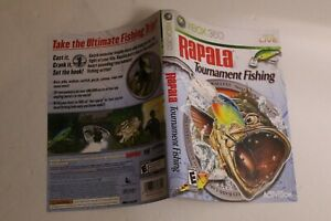 Rapala Tournament Fishing Xbox 360 replacement cover art insert only! original