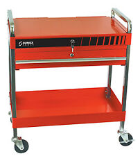 Sunex  Tool 8013A Red Service Cart with Locking Lid and Drawer