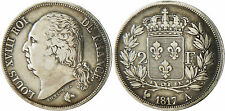 LOUIS  XVIII  ,  2  FRANCS  ARGENT  1817  A  PARIS