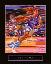 VICTORY Women's Basketball Inspirational Motivational POSTER Print