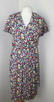 Michèle Boyard Floral Tea Dress 1930's/40's style Size 12