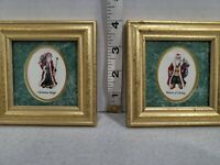 Santa Claus Framed Pictures 1993 Heartfelt Christmas by Kathy Seek Set of 2 Gift