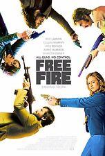 Free Fire Movie Poster (24x36) - Armie Hammer, Brie Larson, Cillian Murphy