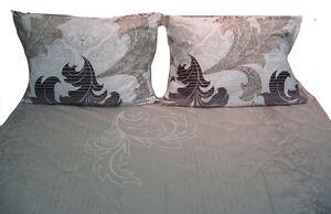DaDa Bedding Cotton Floral Leaves Flat Top Sheet & 1 Pillow Case Set, Twin Size