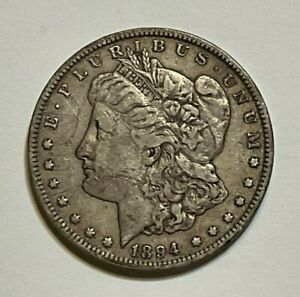 1894-P $1 Morgan Silver Dollar Coin, Key Date Morgan Dollar, 10 Days Auction