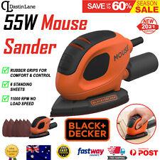 Black & Decker 55w Mouse Sander Orbital Detail Base Sanding Tool W/ 6 Sandpaper