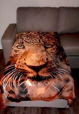 """Alcove """"LEOPARD""""Throw Blanket,NEW With Tags 50""""x60"""",SEALED,Lightweight Gift Set"""