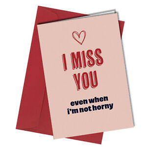 VALENTINE / BIRTHDAY I Miss You Greeting Card HUMOUR Funny Rude #1462