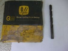 """New listing 10 Pc. 23/64"""" X 5"""" Morse # 1330 Straight Shank H. S. N O S U S A Drill Bitts"""