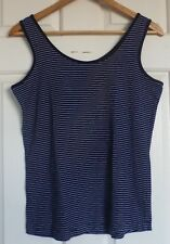 TARGET Quality Casual Size 16 Dark Blue Pinstripe Knit Tank Top - New Never Worn