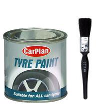 "Carplan Tyre Wall Black 250ml Tyre Paint With 1"" Brush"