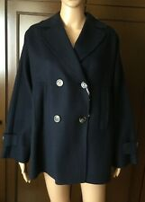 Wool jacket WEEKEND Max Mara Woman, dark blue color, size 46, hand-sewn  Giacca