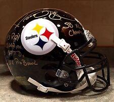 Jerome Bettis SB XL Signed Steelers Pro NFL Game Helmet SS COA Football HOF ROY