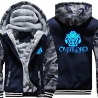Anime Overlord Luminous Mens Jacket Hoodie Thicken Camouflage Sleeve Zipper Coat