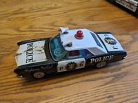 BANDAI 1965 BUICK RIVIERA HIGHWAY PATROL CAR TIN LITHO JAPAN VTG TOY BATTERY OP