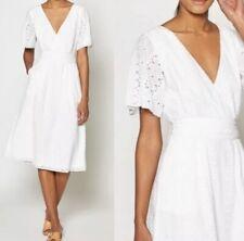 NWT Joie Azariah White Eyelet Summer Midi Casual Boho Vintage Dress Sz 6 $348