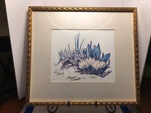 """Delightful vintage print """"Crocus"""" signed by Maryrose Wampler 1993"""