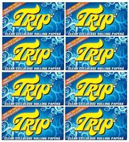 EIGHT packs TRIP 2 CLEAR CELLULOSE 1 1/4 cigarette rolling papers/50 count pack