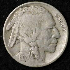 1917 Buffalo Nickel CHOICE VF FREE SHIPPING E516 KH