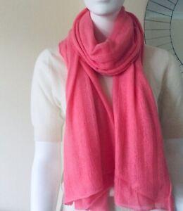 100% Сashmere Scarf Shawl Soft Warm Lightweight Pink Vast Land
