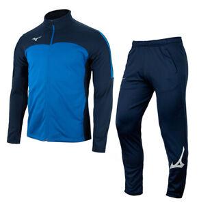 Mizuno Fleece Full-Zip Tracksuits Sets Training Suit Navy P2MC0K5182-P2MD8K5214