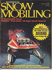 JAN 1974 INVITATION TO SNOWMOBILING snowmobile magazine
