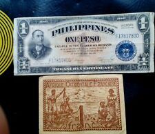 AFRIQUE OCCIDENTALE FRANCAISE 1 FRANC  & Phillipines 1 Peso banknotes