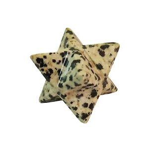 Dalmation Merkaba Stone Star Natural Gemstone Spiritual Reiki Healing Crystal