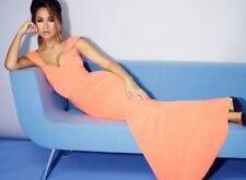MYLEENE KLASS ORANGE FISHTAIL MAXI DRESS SIZE 16 RRP £110 STUNNING