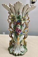"Huge Antique Old Paris French Porcelain Vase 17.5"" Tall 19th Century"