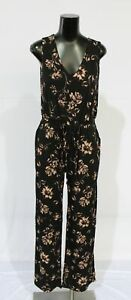 Kaileigh Women's Stitch Fix Janely Knit Jumpsuit BM6 Black Floral Small NWT