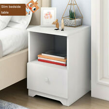 Modern Accent Table Nightstand Bed Side Table W/ Storage Shelf Bedroom Furniture