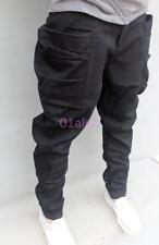 Vogue Black Mens Harem Pants Loose Jogger Cargo Carpenter Long Flare Trousers 11