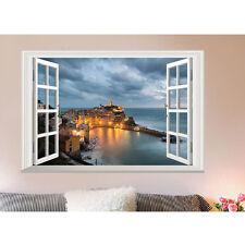 3D Window Seaside View Removable Wall Sticker Vinyl Art Home Decor Decal DIY