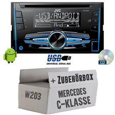 Mercedes C-Klasse W203 - JVC 2DIN Autoradio Radio - Einbauset Auto Radio CD KFZ