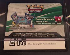 Pokemon TCG Online MEGA CAMERUPT  EX Premium Collection CODE Sent Near/Instantly
