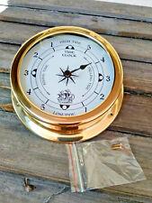 Horloge des marées en laiton décor voilier neuve diametre 14,5cm